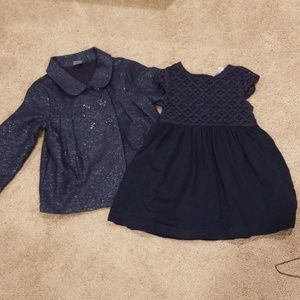 Dress with matching jacket baby/toddler size 24mo